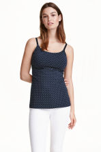 MAMA 2-pack nursing tops - Dark blue/Spotted - Ladies | H&M CN 1