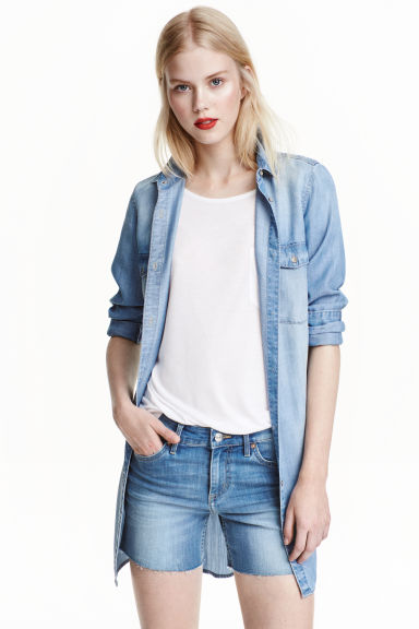 Denim shorts - Denim blue - Ladies | H&M CN 1