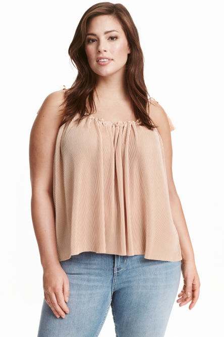 H&M+ Pleated strappy top
