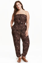 H&M+ Strapless jumpsuit - Black/Paisley - Ladies | H&M CN 1