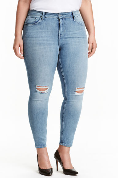 H&M+ Slim Regular Jeans - Light denim blue - Ladies | H&M CN 1