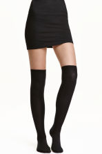 2-pack over-the-knee socks - Black - Ladies | H&M 1
