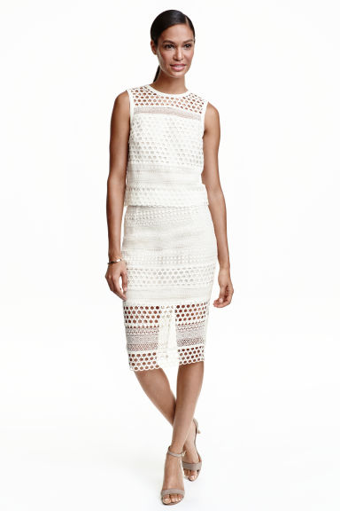 Pencil skirt - White - Ladies | H&M CN 1