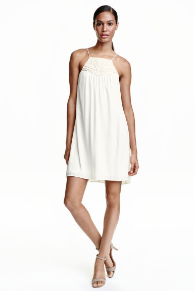 Tape-embroidered dress - White - Ladies | H&M CN 1