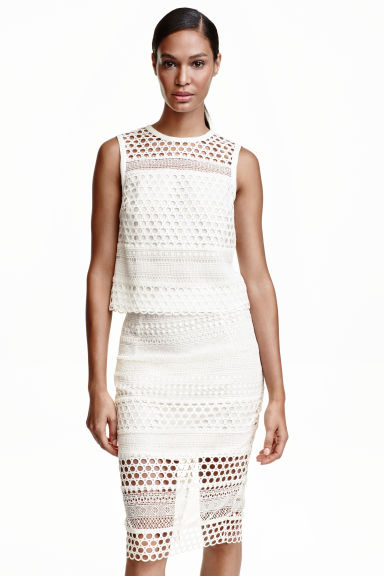 Top en dentelle - Blanc -  | H&M BE
