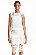 Lace top - White -  | H&M CN 1