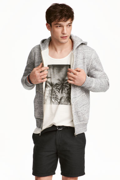 Hooded jacket - Grey marl - Men | H&M CN 1