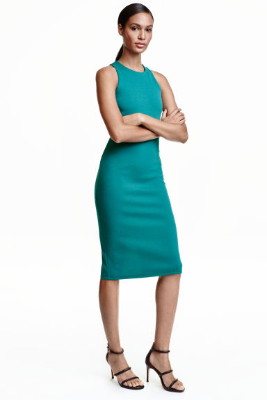 Sleeveless dress - Petrol - Ladies | H&M CN 1
