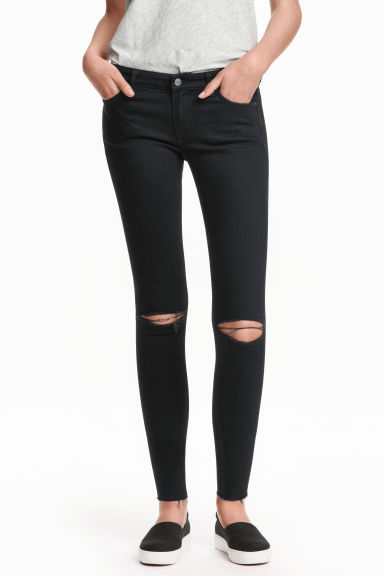 Super Skinny Low Ankle Jeans - 黑色 - Ladies | H&M CN 1