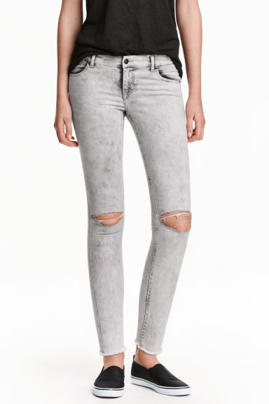 Super Skinny Low Ankle Jeans - 黑色/Acid - 女士 | H&M CN 1
