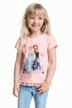Top with a tulle frill - Light pink/Frozen - Kids | H&M CN 1