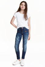 Skinny Fit Biker Jeans - Denim blue - Kids | H&M CN 1