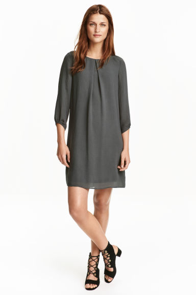 Chiffon dress - Dark grey -  | H&M CN 1