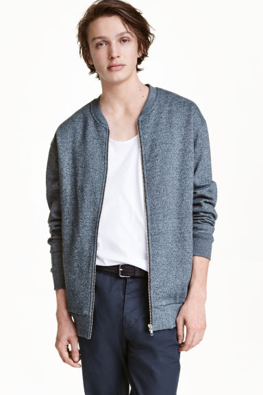Sweatshirt jacket - Dark blue - Men | H&M CN 1