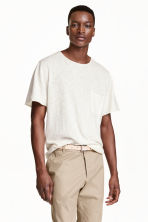 Fine-knit T-shirt - White - Men | H&M CN 1