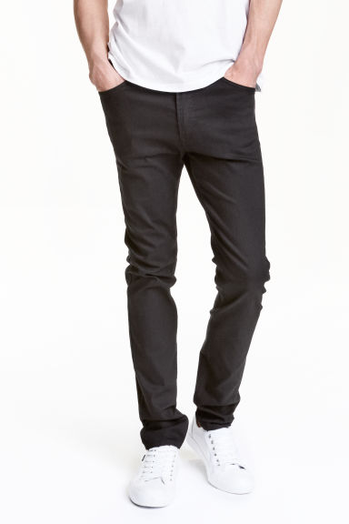 Skinny Regular Jeans - 黑色 - 男士 | H&M CN 1