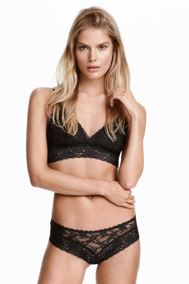 3-pack lace hipster briefs - Black - Ladies | H&M CN 1