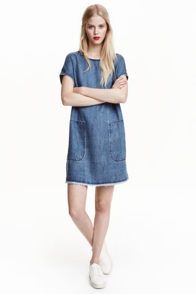 Lyocell denim dress