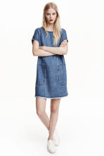 Lyocell denim dress - Denim blue - Ladies | H&M CN 1