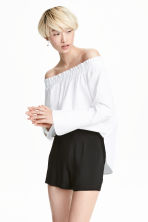 Off-the-shoulder blouse - White - Ladies | H&M CN 1