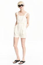 Lyocell playsuit - Natural white - Ladies | H&M CN 1
