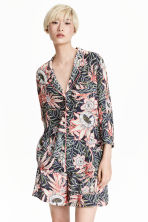 Patterned blouse - Dark blue/Floral - Ladies | H&M CN 1