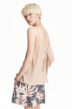 Tie-back strappy top - Light beige - Ladies | H&M CN 1