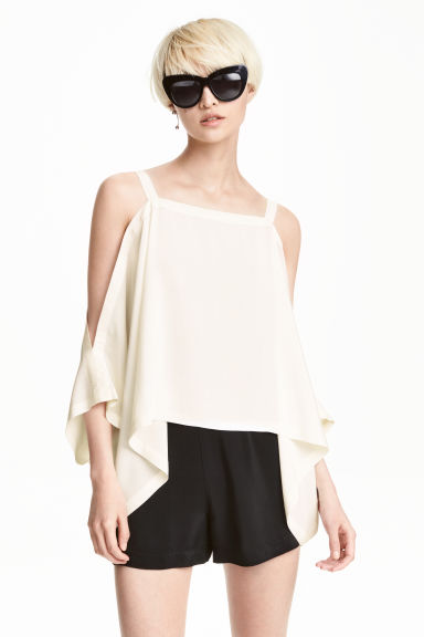 Cold shoulder top - Natural white - Ladies | H&M CN 1