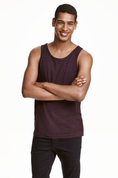 Vest top - Dark plum - Men | H&M CN 1