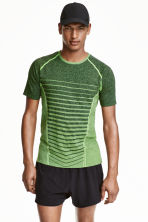 Seamless running top - Neon green marl - Men | H&M CN 1