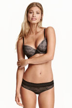 Lace hipster briefs - Black/Beige - Ladies | H&M CN 1