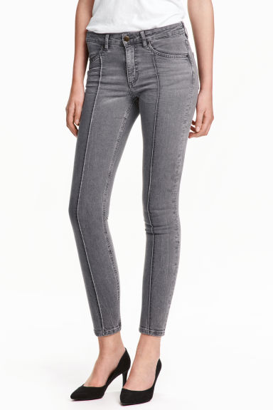 Skinny Low Ankle Jeans - Grey - Ladies | H&M GB 1