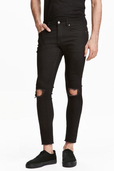 super skinny ankle jeans noir h m fr. Black Bedroom Furniture Sets. Home Design Ideas