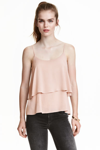Flounced strappy top - null - Ladies | H&M CN 1