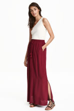 Crinkled skirt - Burgundy - Ladies | H&M CN 1