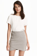 Textured wrap skirt - White/Black - Ladies | H&M CN 1