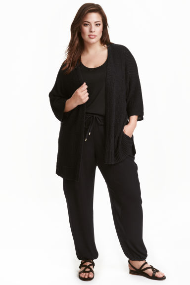 H&M+ Knitted cardigan - Black - Ladies | H&M CN 1