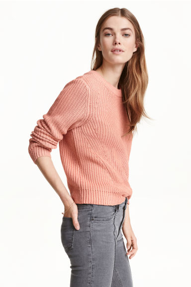 Knitted jumper - Powder pink -  | H&M CN 1