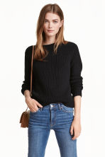 Knitted jumper - Black -  | H&M GB 1