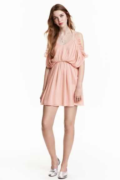 Chiffon dress - Powder pink - Ladies | H&M CN 1