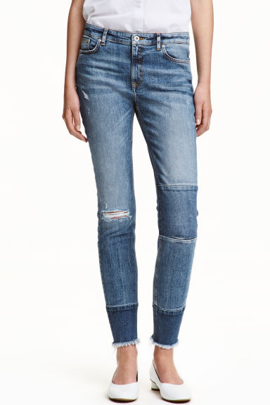 Patchwork Jeans - Denim blue - Ladies | H&M CN 1