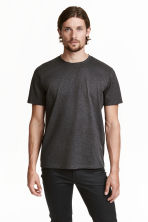 Premium cotton T-shirt - Dark grey marl - Men | H&M 2