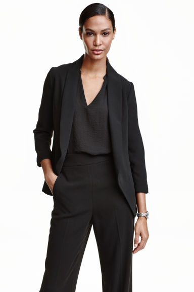 Shawl-collar jacket - Black - Ladies | H&M GB