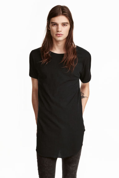 T-shirt lunga - Nero - UOMO | H&M IT 1