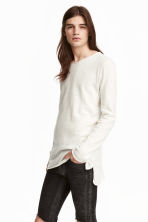 Fine-knit jumper - White - Men | H&M CN 1