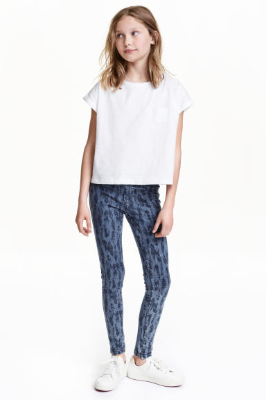 Treggings - Denim blue/Feathers - Kids | H&M CN 1