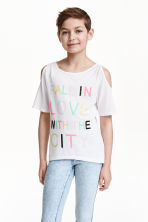 Cold shoulder top - White - Kids | H&M CN 1