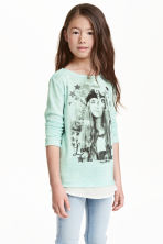 Printed jumper - Mint green - Kids | H&M CN 1