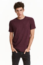 Nepped T-shirt Regular fit - Burgundy marl - Men | H&M CN 1
