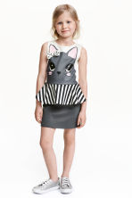 Dress with a flounce - Dark grey/Rabbit - Kids | H&M CN 1